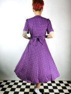 他の写真3: ☆Lindy Bop☆Ionia Purple Polka Dot Tea Dress 13号