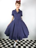 他の写真1: ☆Collectif☆CATERINA SWING DRESS Navy 17号