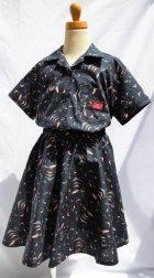 他の写真1: BraniffFabric Black KIDSサーキュラースカート  100サイズ