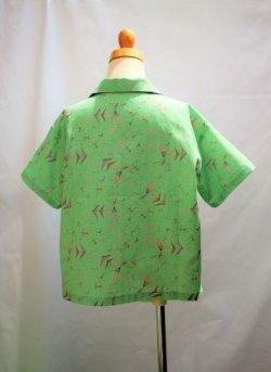画像3: BraniffFabric Green KIDSシャツ 130サイズ