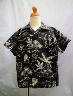画像1: Braniff Bamboo Black KIDSシャツ 120サイズ