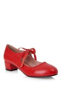 ☆Collectif☆CORINNE BLOCK HEELL-Red UK8(日本サイズ 約27.5cm)