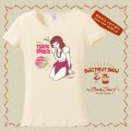 "SWEETMEAT SHOW  ""Miss Tropic Breeze"" T-shirt Natural Lサイズ"