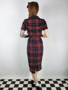 他の写真3: ☆Collectif☆CATERINA GINSBURG CHECK PENCIL DRESS Red/Navy 13号