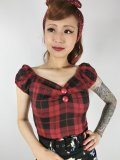 ☆Collectif☆DOLORES REBEL CHECK TOP  7号