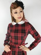 他の写真2: ☆Collectif☆MARIKA REBEL CHECK SWING DRESS Black/Red 13号