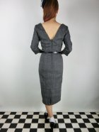 他の写真3: ☆Collectif☆ADELINE LIBRARIAN CHECK PENCIL DRESS Charcoal 11号