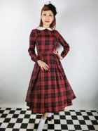 他の写真1: ☆Collectif☆MARIKA REBEL CHECK SWING DRESS Black/Red 13号