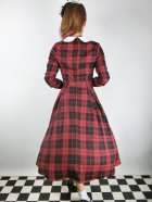 他の写真3: ☆Collectif☆MARIKA REBEL CHECK SWING DRESS Black/Red 13号