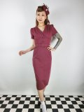 ☆Collectif☆BETHANY PENCIL DRESS Wine 7号