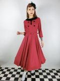 ☆Collectif☆CHRISTINE SWING DRESS Red 15号