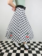 他の写真2: ☆Collectif☆CHERRY VINTAGE GINGHAM SWING SKIRT 17号