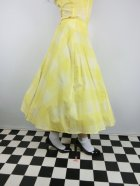 他の写真2: ☆Collectif Vintage☆MATILDE SUN CHECK SWING SKIRT Yellow 15号