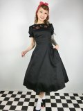 ☆Collectif☆STEPHANIE CHERRY EMBROIDERY SWING DRESS  17号