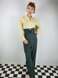 ☆Freddies of Pinewood☆1940s Slacks Bottle Green  (30インチ) 13号