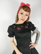 他の写真2: ☆Collectif☆STEPHANIE CHERRY EMBROIDERY SWING DRESS  13号