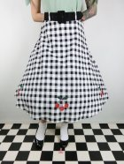 他の写真1: ☆Collectif☆CHERRY VINTAGE GINGHAM SWING SKIRT 17号