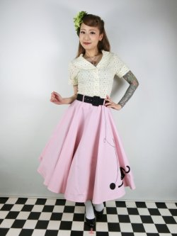 画像2: ☆Collectif☆KITTY CAT SWING SKIRT Pink 15号