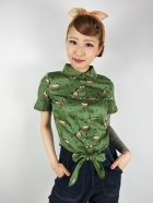 他の写真1: ☆Collectif☆SAMMY WILD WEST PRINT TIE BLOUSE 13号