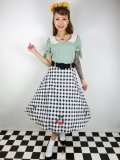 ☆Collectif☆CHERRY VINTAGE GINGHAM SWING SKIRT 15号