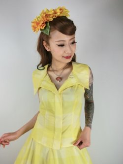 画像2: ☆Collectif Vintage☆ HILLARY SUN CHECK TOP 15号