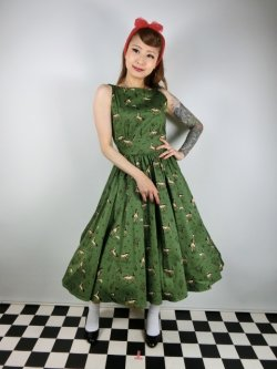 画像2: ☆Collectif☆NIA WILD WEST SWING DRESS 9号
