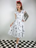☆Collectif☆JOICE OCEAN MAP SWING DRESS 15号