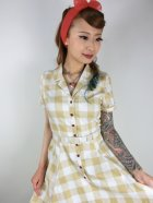 他の写真2: ☆Collectif Vintage☆CATERINA 50S GINGHAM SWING DRESS Mustard 17号