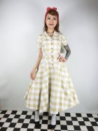 他の写真1: ☆Collectif Vintage☆CATERINA 50S GINGHAM SWING DRESS Mustard 17号