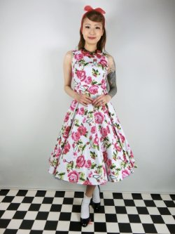 画像2: ☆H&R☆Sweet Rose Swing Dress 17号