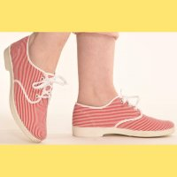 ☆Freddies of Pinewood☆Red Stripe Canvas Cuties UK5(約24.5cm)