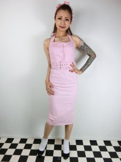 画像2: ☆Collectif☆WANDA PLAIN PENCIL DRESS Pink 9号
