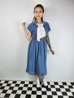 画像2: ☆Lindy Bop☆Tally Mae Soft Blue Swing Dress 13号