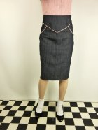 他の写真1: ☆Lucky13☆SUGAR SHACK Denim Slub Pencil Skirt-INDIGO(XL)17号