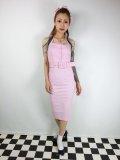 ☆Collectif☆WANDA PLAIN PENCIL DRESS Pink 13号