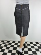 他の写真3: ☆Lucky13☆SUGAR SHACK Denim Slub Pencil Skirt-BLACK(M)13号