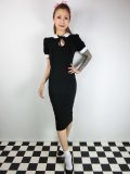 ☆Collectif Vintage☆KHLOE PLAIN PENCIL DRESS Black 11号