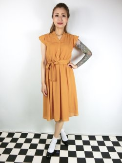 画像2: ☆Lindy Bop☆Kody Mustard Tea Dress 9号