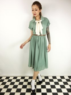 画像2: ☆Lindy Bop☆Tally Mae Sage Green Swing Dress 11号