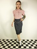 ☆Lucky13☆SUGAR SHACK Denim Slub Pencil Skirt-INDIGO(L)15号