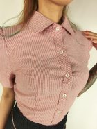 他の写真2: ☆Lucky13☆SHAKE SHACK Vintage Ticking Striped Top-RED/WHITE(L)13号