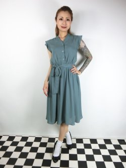 画像1: ☆Lindy Bop☆Kody Sage Green Tea Dress 13号