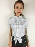 ☆Collectif☆SAMMY VINTAGE GINGHAM TIE BLOUSE 11号