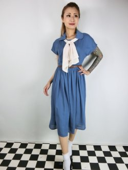 画像1: ☆Lindy Bop☆Tally Mae Soft Blue Swing Dress 13号