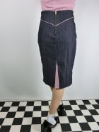 他の写真3: ☆Lucky13☆SUGAR SHACK Denim Slub Pencil Skirt-INDIGO(XL)17号