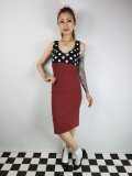 ☆Lucky13☆JAYNE Wiggle Dress-RED/BLACK(XXL)17号
