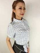 他の写真2: ☆Collectif☆SAMMY VINTAGE GINGHAM TIE BLOUSE 7号