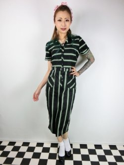 画像2: ☆Collectif☆ CATERINA WITCH STRIPES PENCIL DRESS 17号