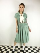 他の写真1: ☆Lindy Bop☆Tally Mae Sage Green Swing Dress 11号