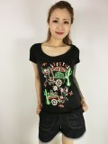 ☆Lucky13☆ LOS DONKEYS Scoop Neck Tee(M)11号